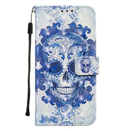 leather case for samsung galaxy NZ - Suitable for Samsung Galaxy NOTE10 PRO 3D Painted Anti-fall PU Leather Case Wallet Phone Case Wallet Cover Flower Butterfly Ocean Flip
