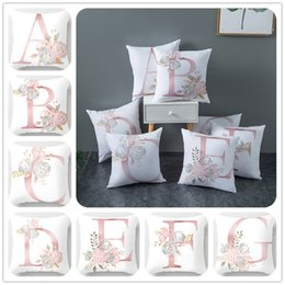 $enCountryForm.capitalKeyWord Australia - English Letter Pattern Pillowcase Square Printing Pillow Cover Hidden Zipper Closure Pillowcase 45*45cm Adult Living Room&Home Pillow Case
