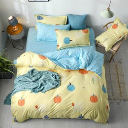 Discount twin bedding sets for adults - Pumpkin Bedding Set King Size Creative Soft Lovely Duvet Cover For Kids Queen Twin Full Single Double Bed Cover with Pil