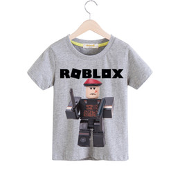 Organic Clothes For Kids NZ - Children Roblox Game Tee Tops Boy Summer Short T-shirt Clothes Girls Casual White Tshirt For Kids T Shirt Costume Baby