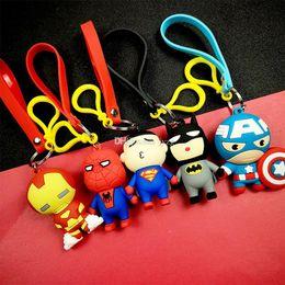 Metal rubber keychain online shopping - The Avengers key chain bell couple Keychain Marvel Hero Car Key Holder Acrylic Bell Anime Key Chain Bag Pendant Bts Accessories Girl Gift