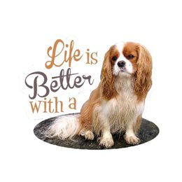 Discount dog rear window sticker - Life Better With The Cavalier King Charles Spaniel Sticker Puppy Breed Dog Vinyl Proud Personality Car