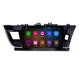 Rearview Screen NZ - 10.1 inch Android 9.0 HD touchscreen GPS Navi Car Stereo for 2014 Toyota Corolla RHD with Bluetooth WIFI support Rearview camera car dvd 4G