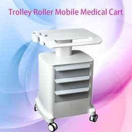 Carts Trolleys Australia - Trolley Roller Mobile Medical Cart With Draws Assembled Stand Holder For Salon Spa US Standard HIFU Machine