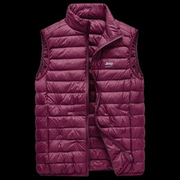 Wholesale jeep jackets coats for sale – winter JEEP men s thin vest autumn and winter new warm coat white duck men s top Warm Down jacket down jacket