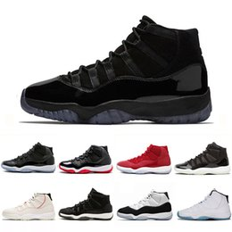 Mens arMy caps online shopping - Platinum Tint Concord prom night XI s Cap and Gown Men women Basketball Shoes bred space jam Mens Sports sneakers