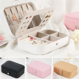 $enCountryForm.capitalKeyWord Australia - Earring Ring Jewelry Display Storage Box Case Organizer Flannel Tray Holder Cosmetic Makeup Bags