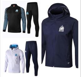 3009630e5e9be AAA + 2018 2019 Olímpico Marsella chaqueta de chándal de fútbol THAUVIN  PAYET Jogging Fútbol Abrigo Pantalones Traje de entrenamiento deportivo  tamaño S-XL