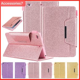 Magnetic Ipad Air Cover Case Australia - Luxury Glitter Bling Magnetic Flip Wake Sleep Leather Wallet Card Stand Holder Shockproof Case Cover For Apple iPad 5 6 Air 2 Mini 2 3 4 Pro