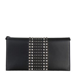 $enCountryForm.capitalKeyWord UK - ladies black leather BROADWAY pot nail clutch 371929AP0KN1000 black code black code