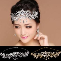 $enCountryForm.capitalKeyWord NZ - Mhs.sun 1pc Vintage Bridal Plated Rhinestone Crystal Teardrop Hair Accessories Fashion Wedding Bridal Jewelry Headpiece Headwear Y19051302