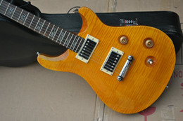 vintage electric guitars NZ - NEW Custom 22 Private Stock Paul Smith vintage yellow Guitar Top Flame Maple DGT David Grissom ANNIVERSARY EDITION Electric Guitar