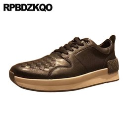 Discount sneaker men brand famous - luxury comfort famous genuine leather men shoes italian brand high quality real black sneakers white designer fashion tr