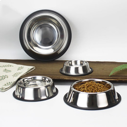 $enCountryForm.capitalKeyWord Australia - Stainless Steel Dog Bowl Pets Standard Pet Dog bowls Puppy Cat Food or Drink Water Bowl Dish 5 Sizes To Choose