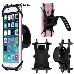 phone holder silicone bicycle Australia - Bicycle Phone Holder Support Smartphone Universal Mount Bracket GPS Stand Silicone Anti Slide Handlebar Clip For iPhone RR7035