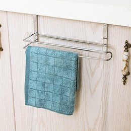 Free Toilet Paper Roll Holder Australia - Kitchen Roll Holder Paper Toilet Towel Shelf Cabinet Storage Punch free Rack Storage shelf Polished Smooth