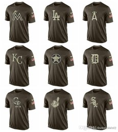 $enCountryForm.capitalKeyWord NZ - Cotton Hot sale NEW 2019 Men White Sox Reds Indians Rockies Tigers Salute To Service T Shirt