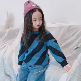 BaBy girl sweater knitting patterns online shopping - Fashion Baby Girls Boys Thick Warm Sweater Stripe pattern Autumn Winter Knitting Pullover Casual Long sleeve Girl Sweater