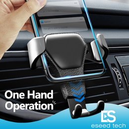 Wholesale Universal Car mount Phone Holder Air Vent Stand For Car No Magnetic Not Phone Grip Mobile Phone Stand Holder with retail package