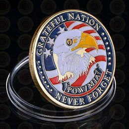 $enCountryForm.capitalKeyWord Australia - GLSY New Arrival Gold Plated Coin America POW&MIA Greatful Nation Never Forget Commemorative Coin Normal Alloy Metal Coin Collectibles Gift