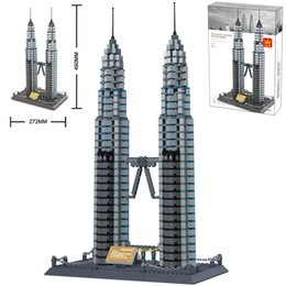 $enCountryForm.capitalKeyWord Australia - Wange Childrens Intelligence Putting together Block Toys to Assemble the World Famous Building Kuala Lumpur National Oil Double Peak Tower 8