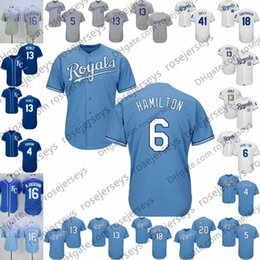 2019 Kansas City Baseball Jerseys  6 Billy Hamilton 4 Alex Gordon 13  Salvador Perez 15 Whit Merrifield 5 George Brett Frank White S-4XL f58019904