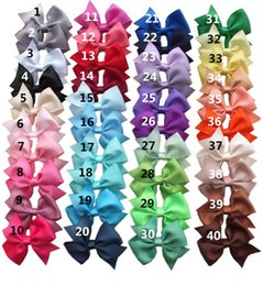 $enCountryForm.capitalKeyWord Canada - CUT Kids Hair Bow Unicorn cartoon Brand Fashion Boutique Alligator Clip Grosgrain Ribbon BOWS Girls Headband 40pcs
