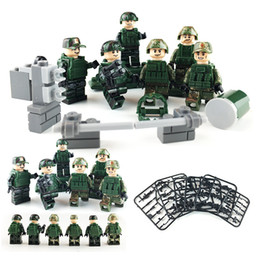 $enCountryForm.capitalKeyWord Australia - 6pcs Lot Sharp Attack Military Special Force Figure with Weapon Building Block Brick Toy For Boy