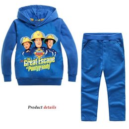 nova cartoon Australia - 2019 Kids Tracksuit Toddler Boy Clothing Set Fireman Sam Clothes Jogging Suit Nova Teenage Girls Boutique Outfits Fall Y200325