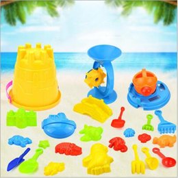 $enCountryForm.capitalKeyWord Australia - Kids Sandy beach Toys Dredging tool Beach Bucket Castle Animal mold Summer NEW Baby playing with sand water toys 25Pcs set LXL62