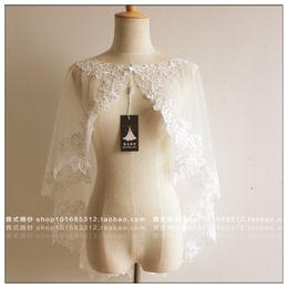 $enCountryForm.capitalKeyWord Australia - women lace bolero white brides dress accessories real photo brides lace jacket topper formal dress coat cape wedding