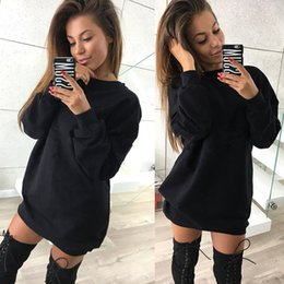 449da4b13a8 New Womens Plus Size Dress Hooded Solid Casual Fashion Party Club Dresses  Brief Long Sleeve Spring Autumn Long Hoodies