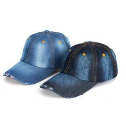 ddad5dafbd3 DHL Unisex Denim Baseball Cap Blank Washed Low Profile Jean Hat Casquette  Adjustable Snapback Hats Caps For Men And Women gift