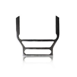 $enCountryForm.capitalKeyWord NZ - New Carbon Fiber Central Control Air Conditioning CD Panel Cover Trim Sticker Car Styling For Mustang 2015-2017 Accessories