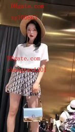 white lace short suit Australia - 2019 summer dress women Tracksuit White printed short sleeve T-Shirts+ printed skirt woman 2pcs suit High quality women clothes BC-4