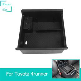 Armrest Storage Box Australia - ABS Car Armrest Box Storage Box Decoration Cover For Toyota 4Runner   Super 2017+ Car Interior Accessories