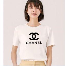 Wholesale t shirt designing online – design 2020 new Summer design brands t shirt print black WHITE T Shirt Women Tops T shirt Cotton Short Sleeve Tshirt Womens Yls Tops Tees