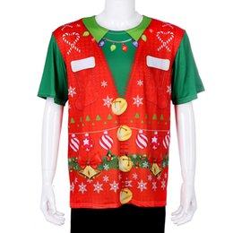$enCountryForm.capitalKeyWord Australia - Cospty Free Shipping Wholesale Navidad Estilo Party New Design Men Printed Deer Pattern Family Red Christmas Shirt