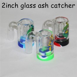 $enCountryForm.capitalKeyWord Australia - New 14mm 18mm Male Glass Ash Catcher with 5ml silicone containers straight glass bong water bong glass bong oil rig for smoking pipes