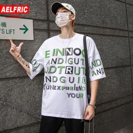 $enCountryForm.capitalKeyWord Australia - AELFRIC Solid Color Big Letter Printed Streetwear T Shirts Mens Hip Hop Streetwear 2019 Summer T Shirts Casual Short Sleeve Tops