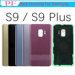 Cheap Original For Samsung Galaxy S9 Plus G960 G960F G965 G965F G965P Back Battery Cover Glass Housing +Adhesive Sticker IMEI Printed on Sale