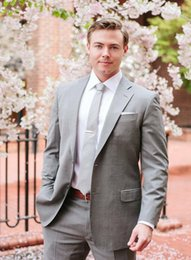 men yellow wedding suit Australia - Grey Suits Men Classic Style Slim Fit Latest Coat Pant Designs Modern Prom Blazer Custom Made Masculino Wedding 2 Pieces