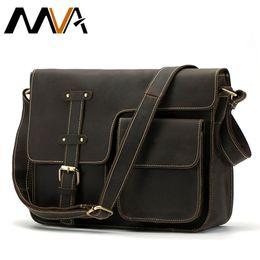 $enCountryForm.capitalKeyWord Australia - Mva Messenger Bag Men's Shoulder Bag Genuine Leather Men's Bags Crazy Horse Male Man Vintage Crossbody Bags Leather Handbag 1050 Y19051802