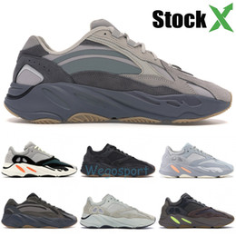 Gold desiGner sneakers online shopping - Reflective Wave Runner Inertia Tephra Solid Grey Utility Black Vanta Runing Shoes Men Designer Shoes Women Static Sneakers