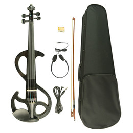 $enCountryForm.capitalKeyWord NZ - 4 4 Electric Violin 4 4 Full Size Solid Wood Electric Silent Violin W  Case Bow Rosin New