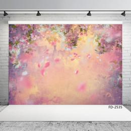 $enCountryForm.capitalKeyWord Australia - painting flower vinyl photography background portrait for photo shoot 7X5ft vinyl cloth backdrops for wedding baby photo studio photobooth