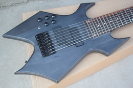 Left Handed Basses Australia - Free Shipping Factory Custom Left Handed 8-String Matte Black Electric Bass Guitar,Black Hardwares,Basswood+Maple Body,Offer Customized