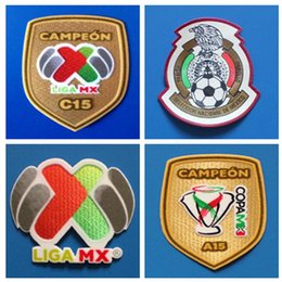 soccer badges patches Canada - Football Patch Mexico patch Mexican League Soccer Patch Badges Mexico Champion Football Shirt Patches armband