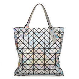 packaging ladies handbag Canada - 10x10 Grid Laser Diamond Fold Package Geometry Diamond Lattice Package Single Shoulder Handbag Popular Woman Luxury Lady Bag Exceed Fire