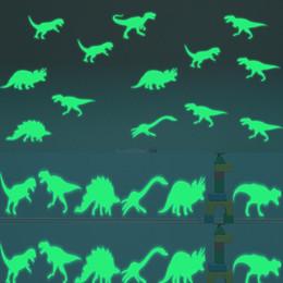 Dark Figures NZ - Dinosaur Jurassic World Figures Indominus Rex Luminous stickers toy Glow in the Dark Jurassic Park Dinosaur Luminous Toys Girls
